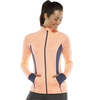 Tek Gear Colorblock Mockneck Workout Jacket - Women's, Size: