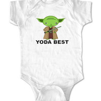 Yoda star wars Funny Baby Onesuit Boy or Girl, Bodysuite Sizes Newborn to 24 Months - VEROATTACK