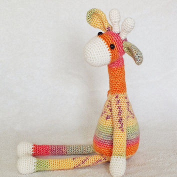 Amigurumi Crochet Giraffe Stuffed Toy Plush Childrens Gift Made To Order