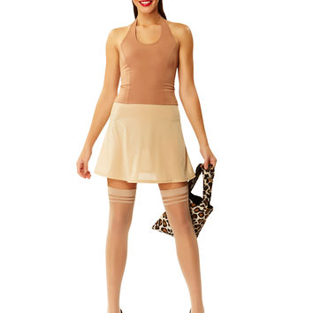 In The Nude Sand Shimmer Mini Skirt