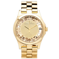 Marc by Marc Jacobs MBM3206 Women's Henry Skeleton Gold Dial Gold Tone Steel Watch