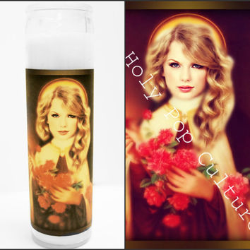 Saint Taylor Swift Prayer Candle