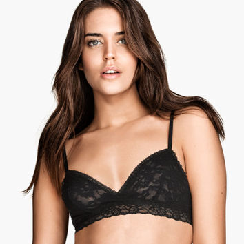 2-pack non-wired lace bras - from H&M