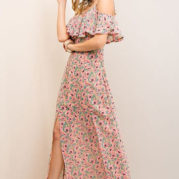 Summer Cottage Maxi Dress - Taupe