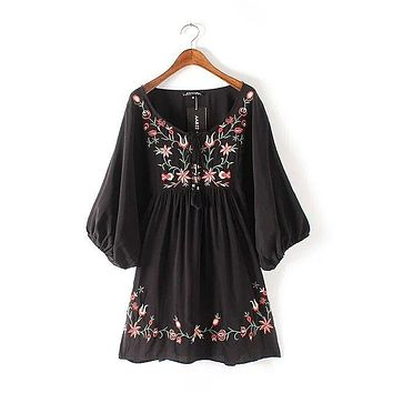 Japanese Kimono Boho Vintage Bohemian Ethnic Retro Rockabilly Embroidered Cotton Linen Tunic Tunique Femme Blouse Womens Tops