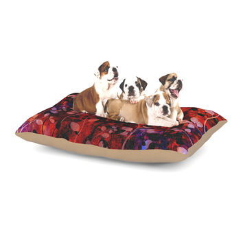 "Ebi Emporium ""Amongst the Flowers - Summer Nights"" Red Black Dog Bed"
