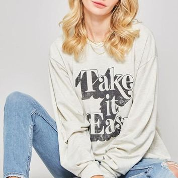 Take It Easy Graphic Top