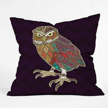 Sharon Turner Little Brother Owl Throw Pillow
