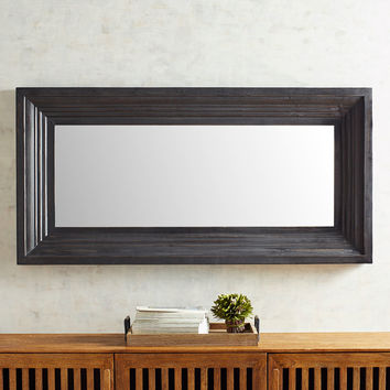 Bailey Black Floor Mirror