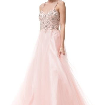 Beaded bodice quinceanera dress BC#SR150711