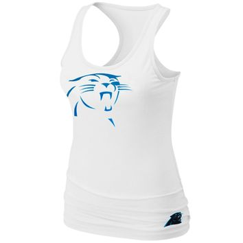 Nike Carolina Panthers Women's Big Logo Tri-Blend Tank - White