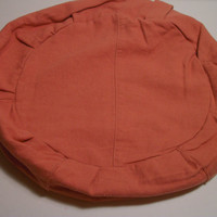 Zafu Cushion in Pumpkin Reclaimed Linen Fabric. Cover Only. Made by a Small Business in the USA