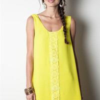 Here Comes The Sun Dress  - Yellow
