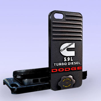 Dodge Cummins 5.9L Turbo Diesel - Print on Hard Cover - iPhone 5 Case - iPhone 4/4s Case - Samsung Galaxy S3 case - Samsung Galaxy S4 case