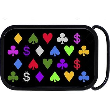 Full Color Playing Card Poker Belt Buckle