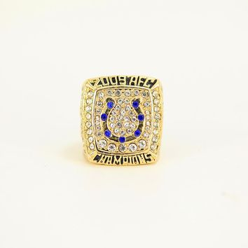 FGHGF Hot Sale 2009 Indianapolis Colts Championship Ring Fashion High Quality Ring and Fine Wooden Gift Box Commemorative Gift