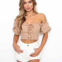 Buy Our Alya Top in Tan Online Today! - Tiger Mist