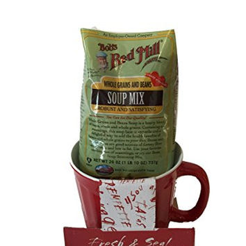 Mugs Stoneware: Fresh & Seal Bowl with Red Mill Soup Mix -Colors Vary