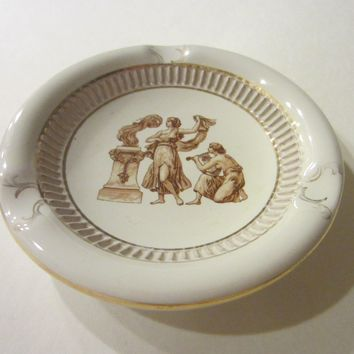 Florence G Romantic Historic Ashtray Hand Made In Italy