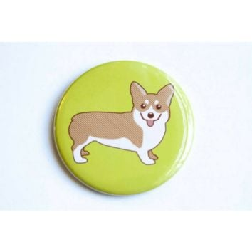 Corgi Dog Magnet, Pin, or Mirror