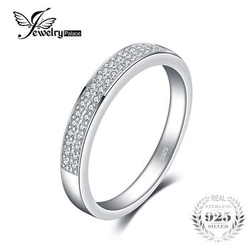JewelryPalace Classic Anniversary Channel Set Wedding Band Eternity Ring 925 Sterling Silver Jewelry For Women
