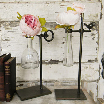 Test Tube Bud Vases,Flower Holder,Unique Flower Vases,Flower Stand,Unique Bud Vases,Farmhouse Decor, Rustic Farmhouse Decor,Shabby Chic