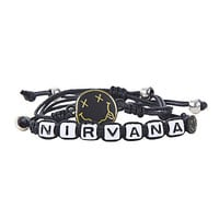 Nirvana Smiley Cord Bracelet Set