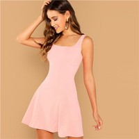 Gilda Pink Sleeveless Mini Dress