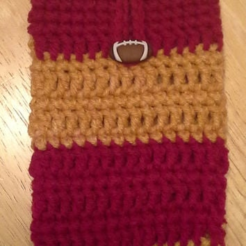 Smart Phone Cozy, SAN FRANCISCO 49ers football handmade crochet cozy, fits most smartphones
