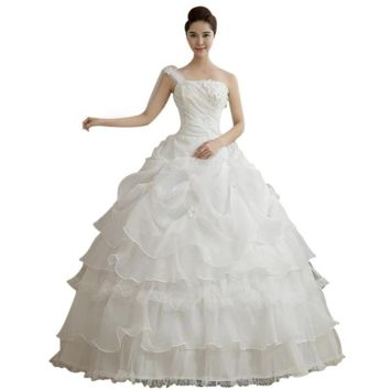 White princess Lace Wedding Dress tulle Wedding Dresses