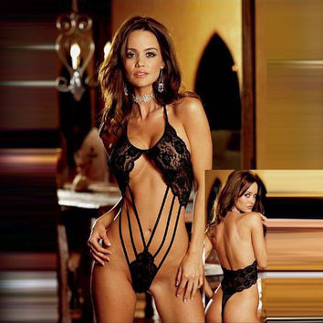 On Sale Cute Hot Deal Sexy Lace Transparent One-piece Exotic Lingerie [6596515331]