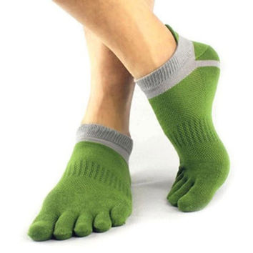 1 Pair Cotton Toe Sock Pure Sports Five Finger Socks Breathable 6 Colors Free Shipping