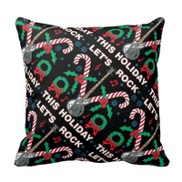 Ugly Sweater Lets Rock This Holiday Tiled Design Pillows