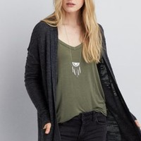 AEO Cocoon Cardigan , Olive | American Eagle Outfitters