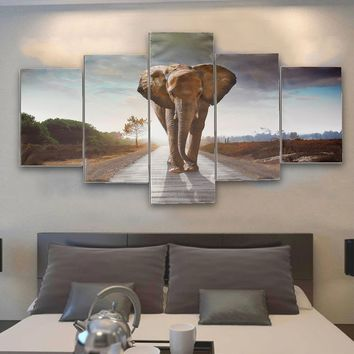 Wall Decor Art Picture Modern Large Abstract Canvas Print Elephant Unframed Home