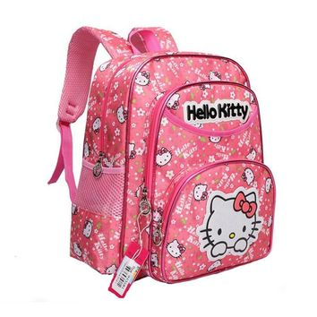 Cartoon Hello Kitty School Backpacks for Girls Kids Satchel Children School Bags For Kindergarten Mochila Escolar Rucksacks