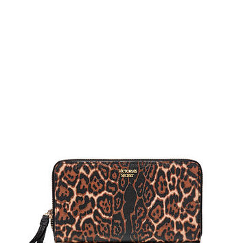 Forever Leopard Zip Wallet - Victoria's Secret