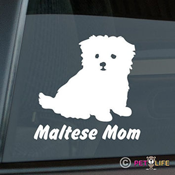 Maltese Mom Sticker Vinyl Auto Window Sticker v2
