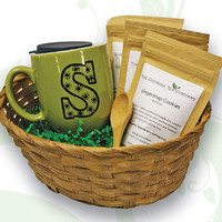 Mother's Day Tea Gift Basket w/ Custom Mug
