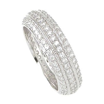 925 Sterling Silver Eternity Ring 1 Carat Weight - Size 9 - kkr6749d