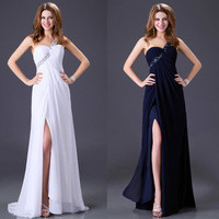 Evening Formal Prom Ball Gown Party One Shoulder Cocktail Bridesmaid Long Dress