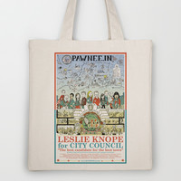 Leslie Knope for City Council - Parks and Recreation Dept. Tote Bag by Jasey Crowl