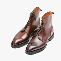 The Urban Commando Boot - In Cedar Brown Calfskin