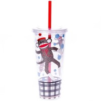 Sock Monkey Drink Tumbler