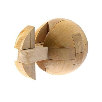 Traditional Locks Cube Wooden Brain Teaser Puzzle Boll Toy