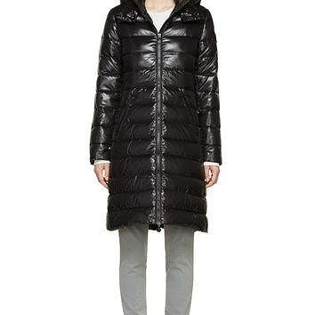 Moncler Black Quilted Down Moka Coat