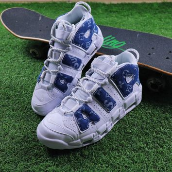 Best Online Sale Louis vuitton LV x Supreme x Nike Air More Uptempo Basketball Sport Shoes Sneaker