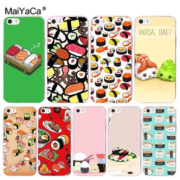MaiYaCa Japanese cuisine Sushi food lovely Phone Accessories Case for Apple iPhone 8 7 6 6S Plus X 5 5S SE 5C Cover XS XR XSMAX