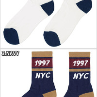 ONLY NY TRACK SOCKS NATURAL NAVY RED only New York track socks natural White Navy Navy blue red red sock socks casual brand mens ladies men women HIPHOP hip hop dance dancer costumes ONLY NEWEYORK