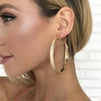 Halo Gold Hoop Earrings